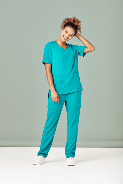 Ladies Round Neck Scrub Top (4 Colours)