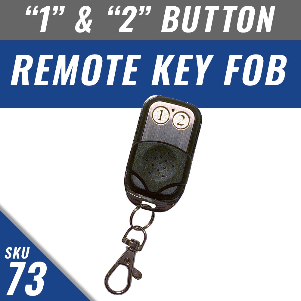 Remote Fob with number 1 and 2 buttons