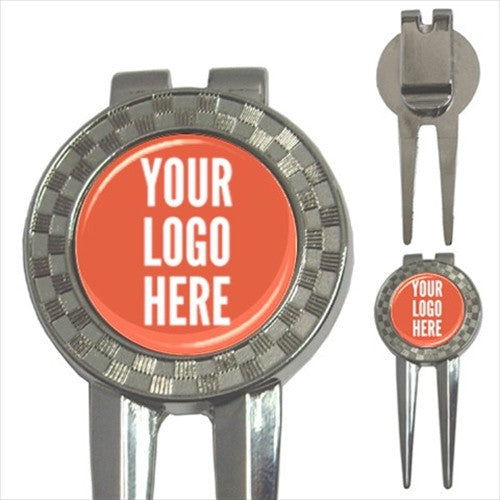 Custom Golf Ball Marker + Divot Tool with Your Logo