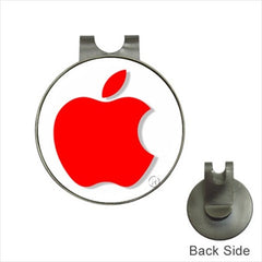 Apple Red Logo Golf Ball Marker