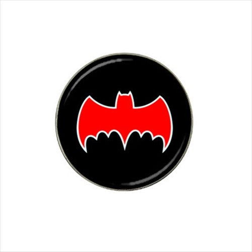 Batman Black & Red Classic Logo Golf Ball Marker
