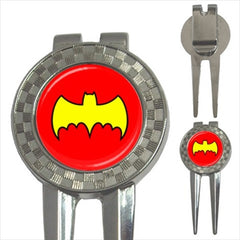 Batman Classic Red & Yellow Golf Ball Marker