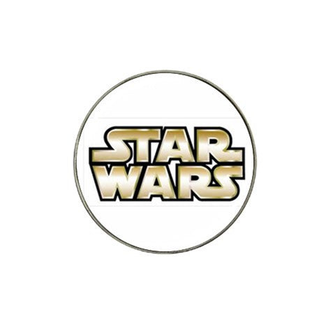 Star Wars Gold And White Golf Ball Marker