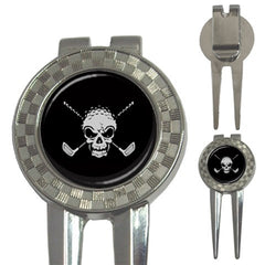 Golf Club Crossbone Skull Golf Ball Marker S2
