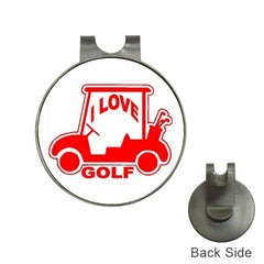 I Love Golf Cart Golf Ball Marker