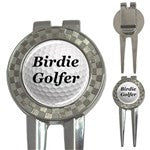 Birdie Golfer Golf Ball Marker