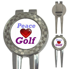 Peace Love Golf Ball Marker