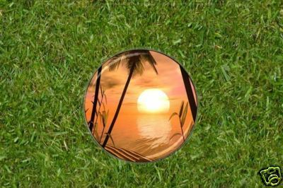 Tropical Paradise Sunset  Golf Ball Marker
