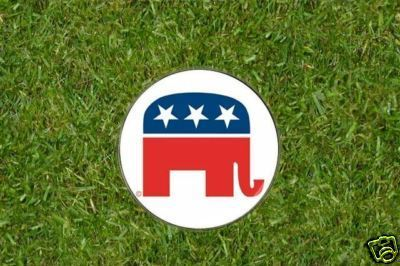 Republican Party Elephant Golf Ball Marker