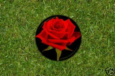 Red Rose Flower Golf Ball Marker - Ladies