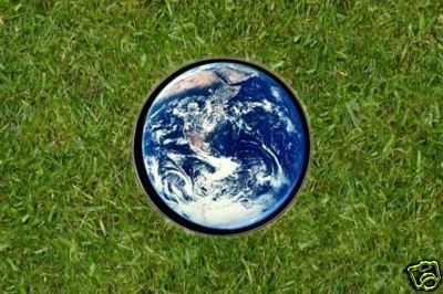 Planet Earth Golf Ball Marker - RARE!