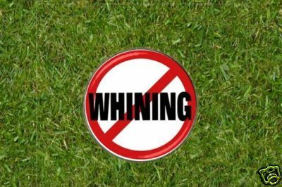 No Whining (on the course)  Golf Ball Marker