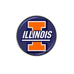 University of Illinois I Logo Golf Ball Marker