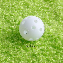 50 Pcs 40mm Golf Practice Training Balls Plastic Whiffle Airflow Hollow