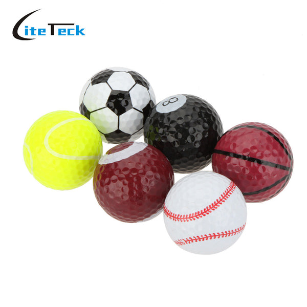 6pcs / bag  Golf Balls Novelty Sports Practice Golf balls Two layers Golf Practice balls Golf gift balls