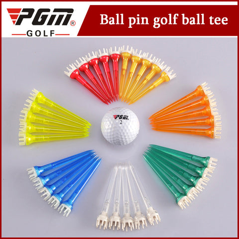 20pcs/pack PGM Golf Tees Golf Ball Holder Plastic Step Down Accessoris DownTee Anchor/78mm/62mm/50mm Golf Anchor Marker Tees