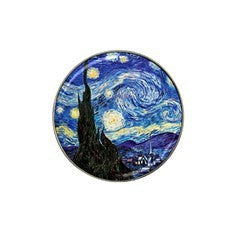 Van Gogh Starry Night Golf Ball Marker