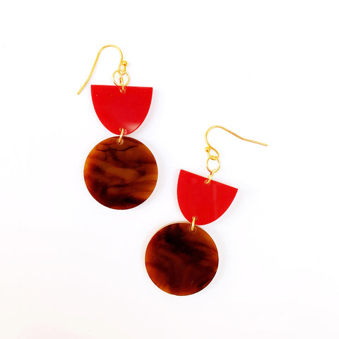Raspberry and Tortoise Dangles