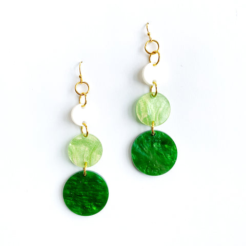 Marbleized Ombre Dangles
