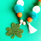 Glitter Shamrock Necklace - Kids
