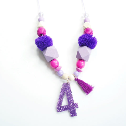 Purple Birthday Necklace