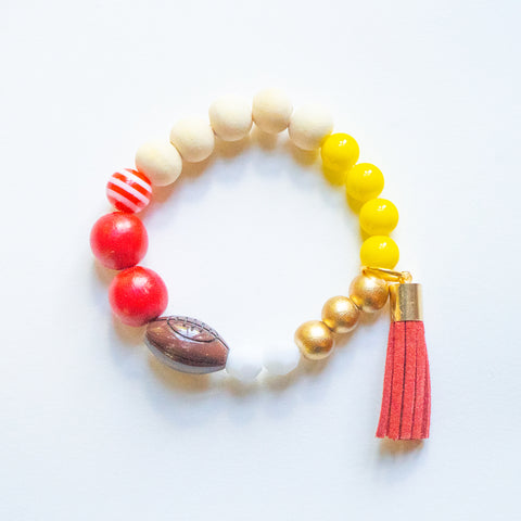 Kids KC Football Bracelet