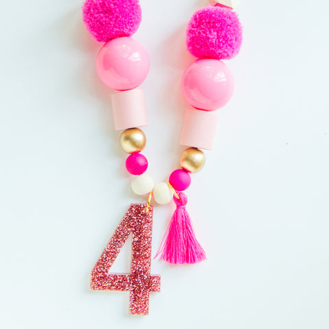Pink Birthday Necklace