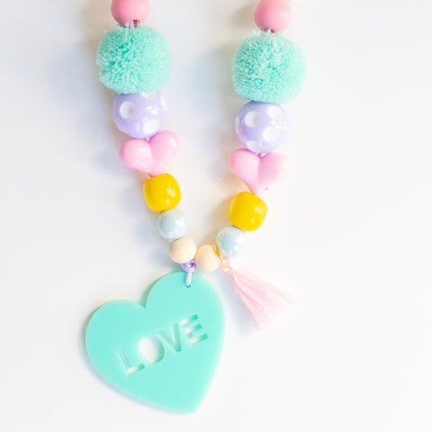 Kids Conversation Heart Necklace