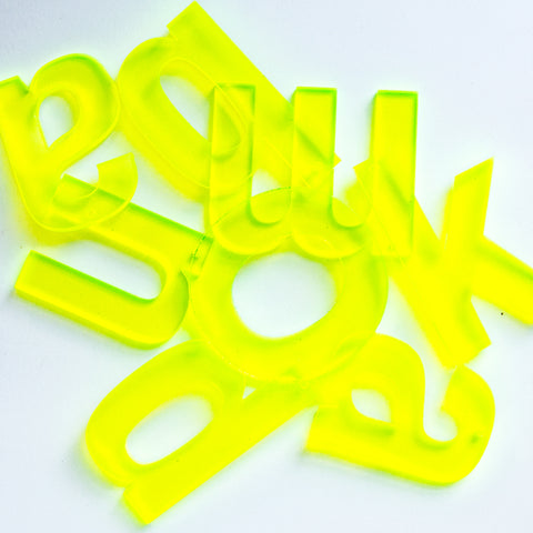 Neon Yellow Letter a la carte