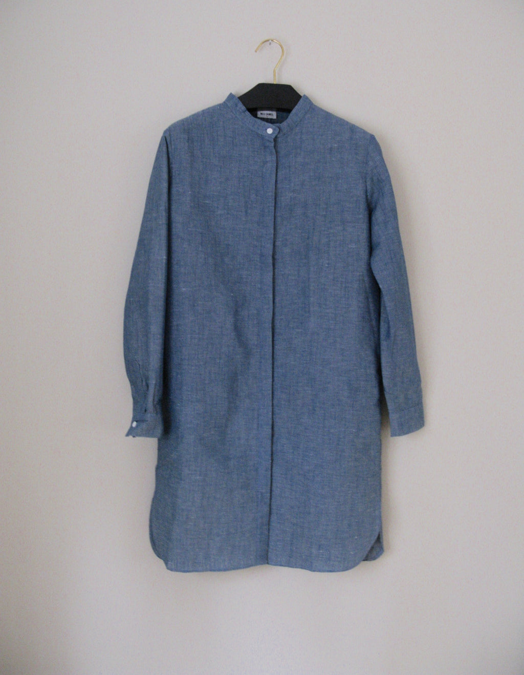 CHRYS MAXI SHIRT denim blue