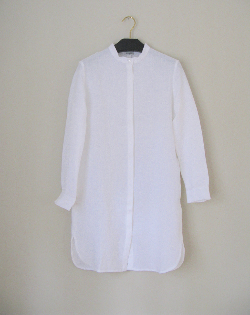 CHRYS MAXI SHIRT white