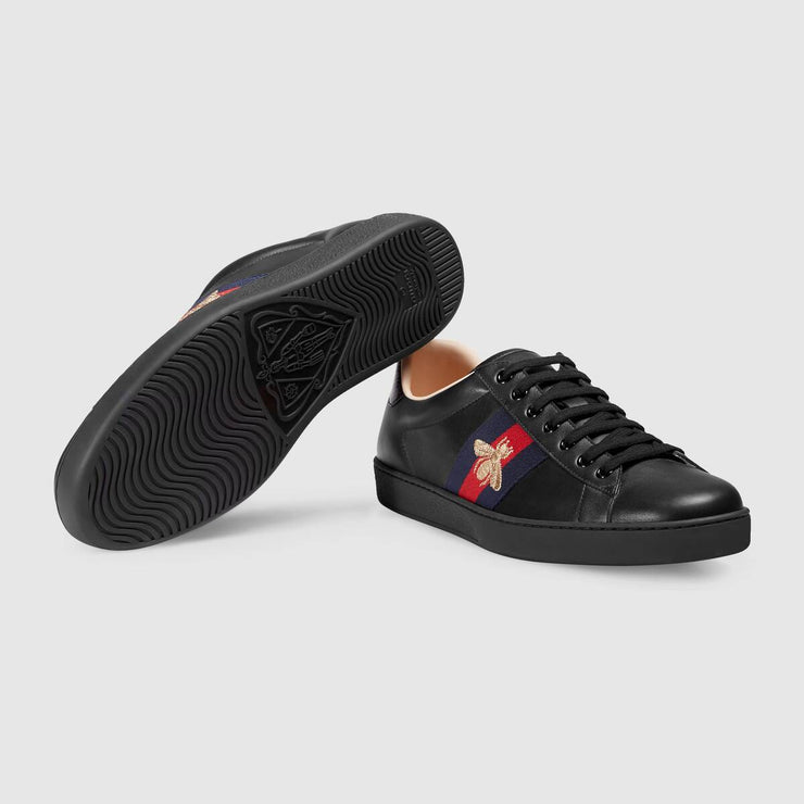 Ace embroidered sneaker black