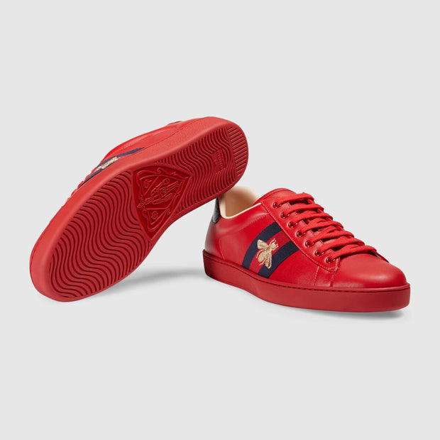 Ace embroidered sneaker red