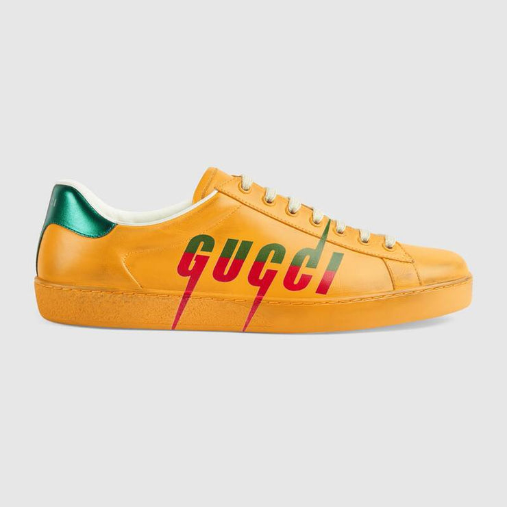 Ace sneaker with Gucci Blade Yellow
