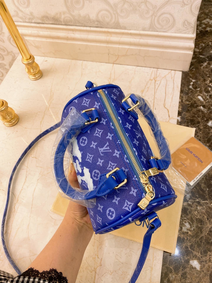 LV Blue Speedy Grafiti