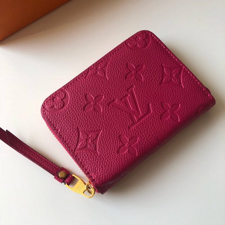 LV - Pink Wallet Zippy Monogram