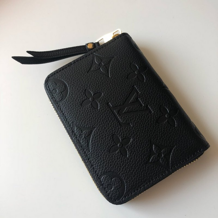 LV - Black Wallet Zippy Monogram
