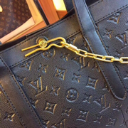 LV Neverfull MM Chain Black