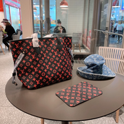 LV Neverfull MM Pink Monogram