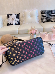 LV Neverfull Pink Neon