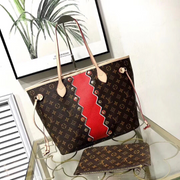 LV Neverfull Monogram Red Stripe