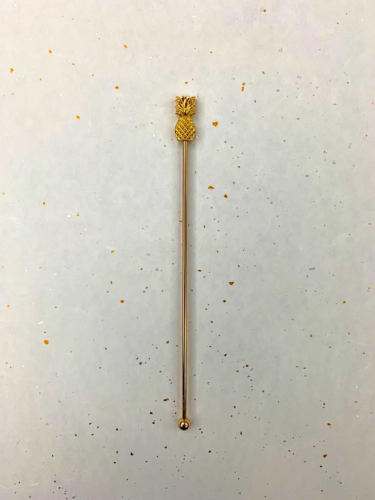 Gold Pineapple Stirrer
