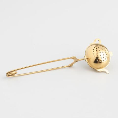 Gold Teapot Tea Infuser With Handle