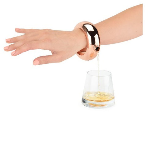 Rose Gold Bangle Flask
