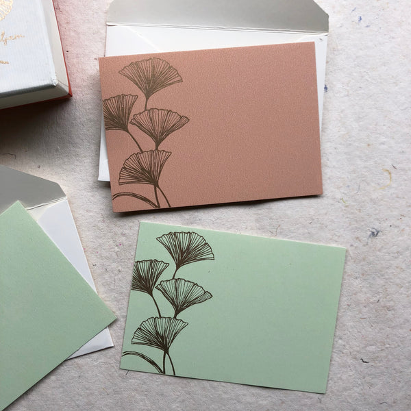 Ginko Envelope and Note Card Set