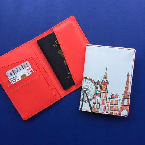London to New York Passport Case