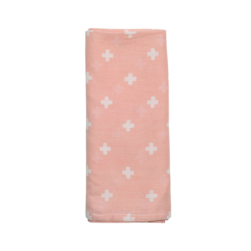 Nordic Cross + Dusty Rose Swaddle