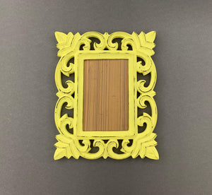 Yellow Carved Photoframe