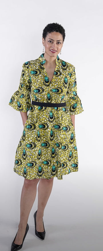 Aku dress- Green Print