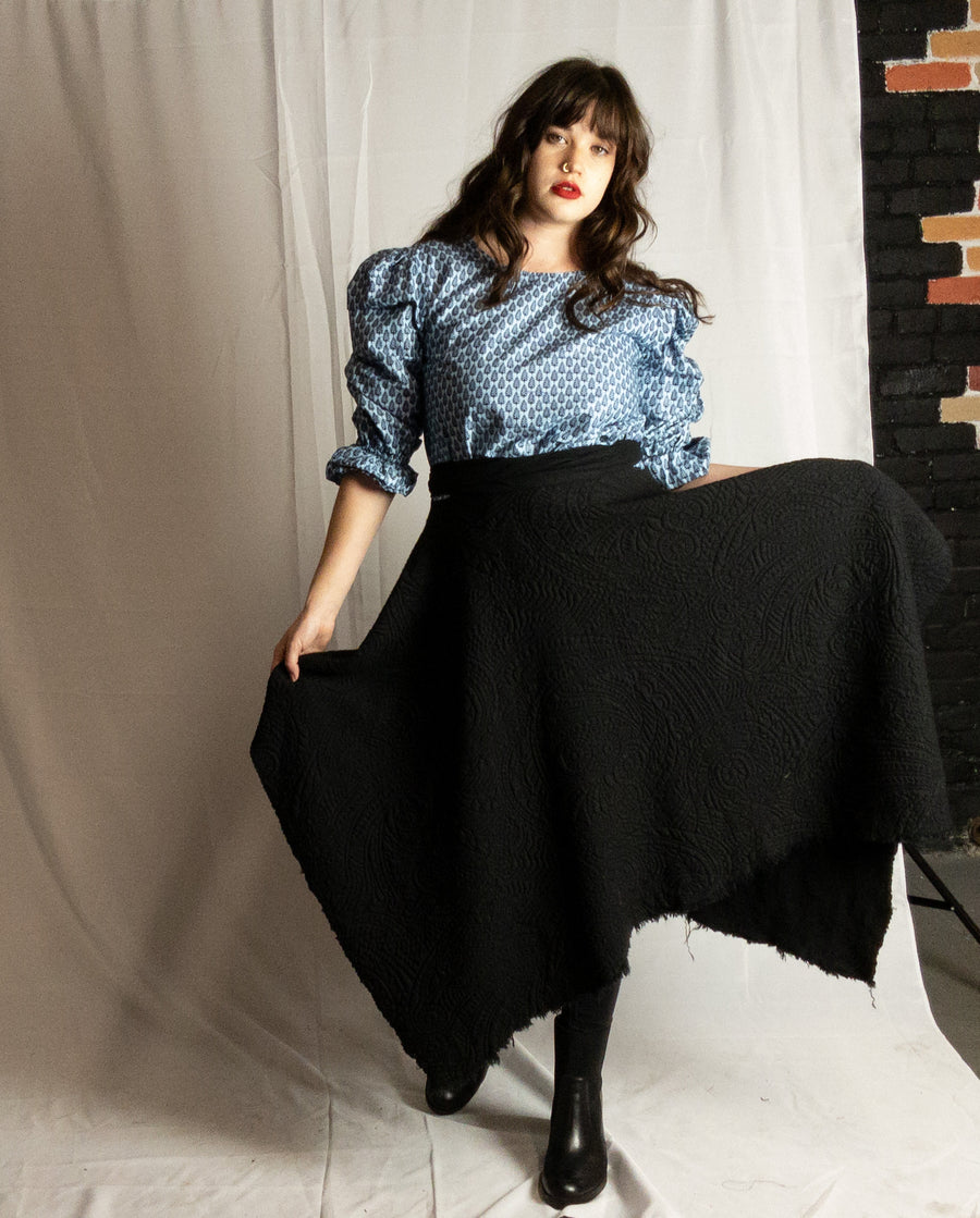 Handkerchief skirt- Quilted